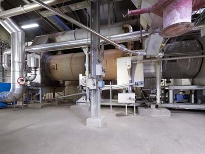 The thermal sludge recycling plant (TVA)